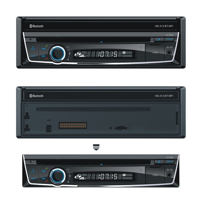 autoradio norauto sound ns 313 dvd bt mfi. Black Bedroom Furniture Sets. Home Design Ideas
