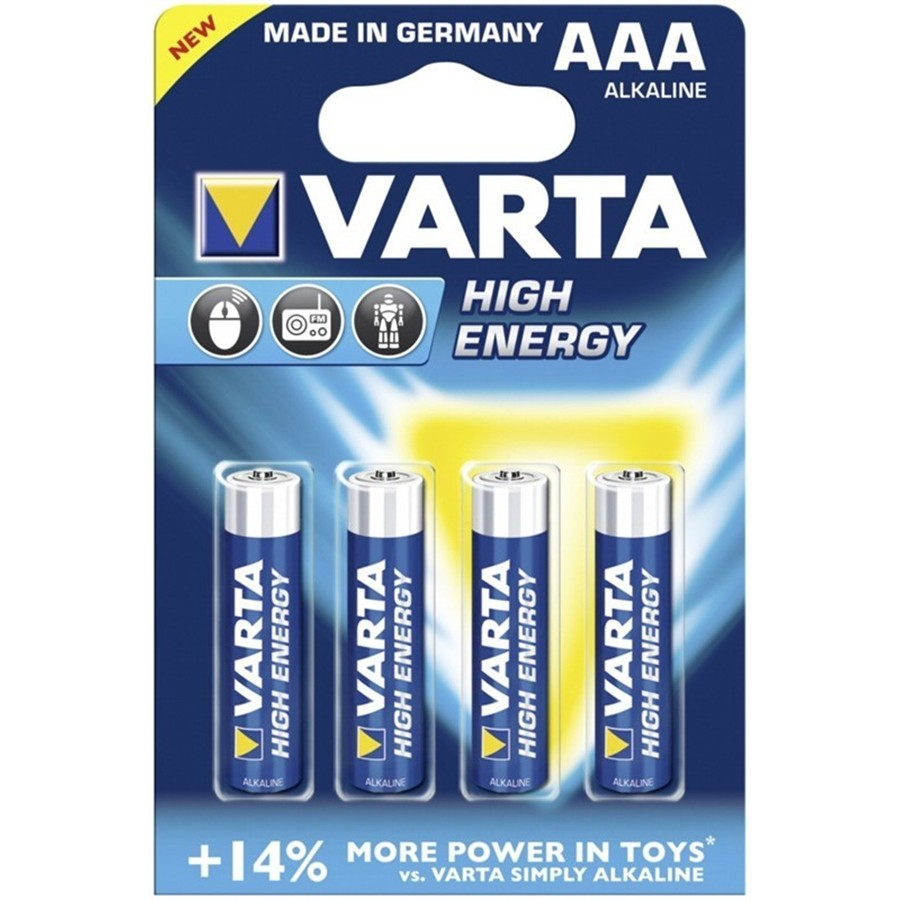 4 Pile VARTA HIGH-ENERGY ministilo